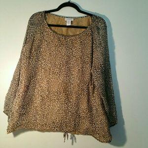 Avenue women's leopard print blouse